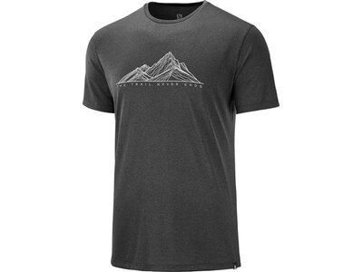 SALOMON Herren T-Shirt AGILE GRAPHIC TEE M Grau