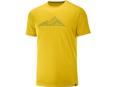 SALOMON Herren T-Shirt AGILE GRAPHIC TEE M Gold