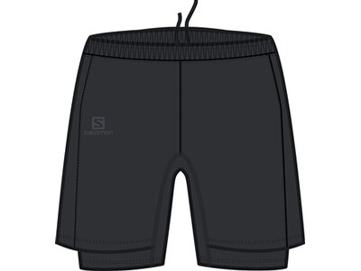 SALOMON Herren Shorts AGILE TWINSKIN SHORT M Schwarz