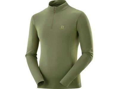 SALOMON Herren Midlayer Shirt EXPLORE SEAMLESS HALF ZIP M Grün