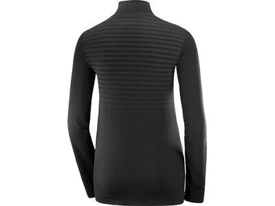 SALOMON Damen Midlayer Shirt COMET SEAMLESS HALF ZIP W Schwarz