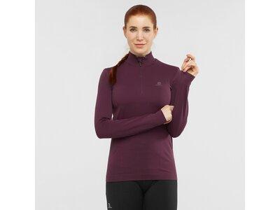 SALOMON Damen Midlayer Shirt COMET SEAMLESS HALF ZIP W Lila