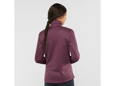 SALOMON Damen Midlayer Shirt TRANSITION HALF ZIP W Lila