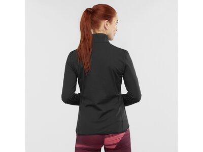 SALOMON Damen Midlayer Shirt OUTRACK HALF ZIP W Schwarz