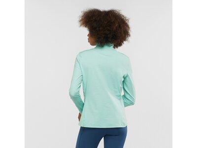 SALOMON Damen Midlayer Shirt OUTRACK HALF ZIP W Grün
