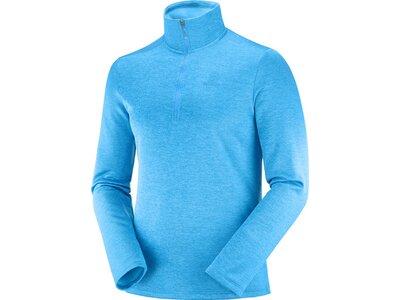 SALOMON Herren Midlayer Shirt TRANSITION HALF ZIP MID M Blau