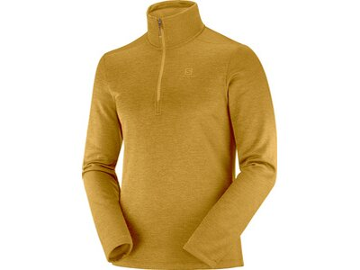 SALOMON Herren Midlayer Shirt TRANSITION HALF ZIP MID M Gelb