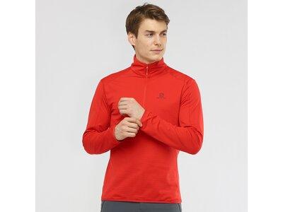 SALOMON Herren Midlayer Shirt OUTRACK HALF ZIP MID M Rot