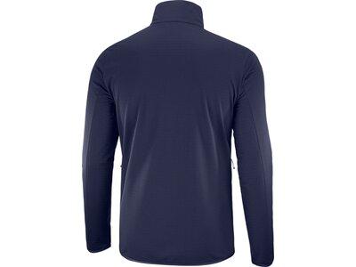 SALOMON Herren Sweatshirt OUTRACK FULL ZIP MID Blau