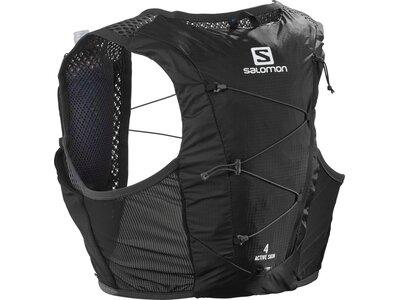 SALOMON Rucksack ACTIVE SKIN 4 SET BLACK/EBONY Schwarz