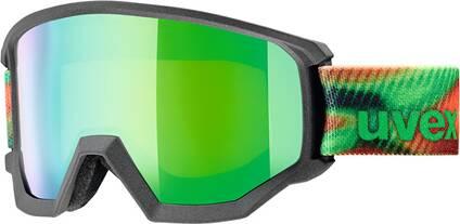 Uvex  Skibrille athletic FM black/green dl/gre-lgl