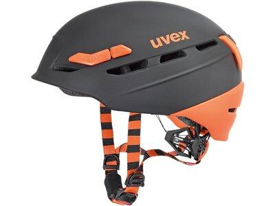 Uvex p.8000 tour Skihelm Grau