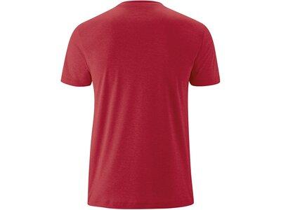 MAIER SPORTS Herren Shirt 1/2 Arm Myrdal Print Rot