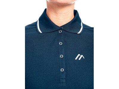 MAIER SPORTS Damen Poloshirt Comfort LS W Blau