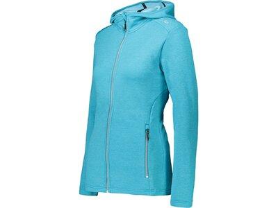 CMP Damen Sweatshirt WOMAN JACKET FIX HOOD Blau