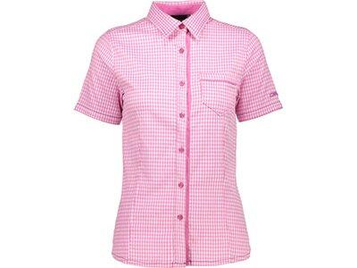 CMP kurzarm Hemd HOT PINK-BIANCO Pink