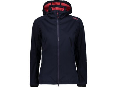 CMP Damen Softshell-Jacke WOMAN JACKET ZIP HOOD Blau