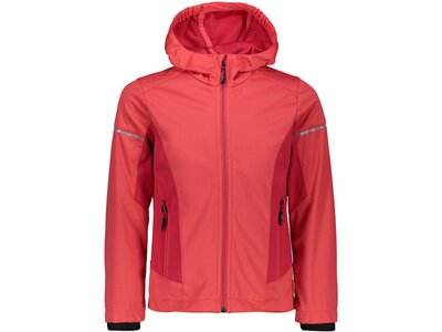 CMP Kinder Softshell-Jacke GIRL JACKET FIX HOOD Rot