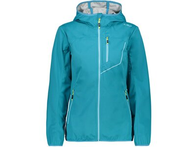 CMP Damen Softshell-Jacke WOMAN JACKET FIX HOOD Blau