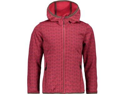 CMP Kinder Sweatshirt GIRL JACKET FIX HOOD Rot