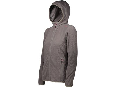 CMP Damen Fleecejacke WOMAN JACKET FIX HOOD Grau