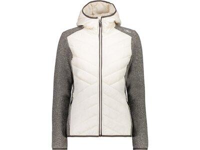 CMP Damen Sweatshirt WOMAN JACKET FIX HOOD HYBRID Grau