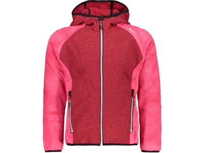 CMP Kinder Sweatshirt GIRL JACKET FIX HOOD Rot