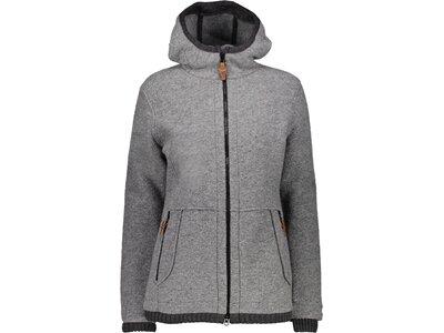 CMP Damen Sweatshirt WOMAN JACKET FIX HOOD Grau
