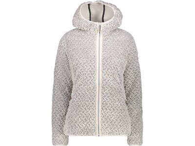 CMP Damen Sweatshirt WOMAN JACKET FIX HOOD Silber