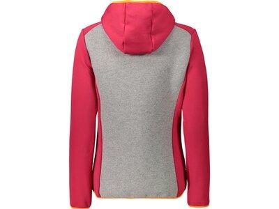 CMP Damen Sweatshirt WOMAN JACKET FIX HOOD Rot