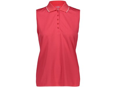 CMP Damen Poloshirt WOMAN POLO SLEEVELESS Rot