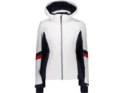 CMP Damen Skijacke mit Kapuze Weiß