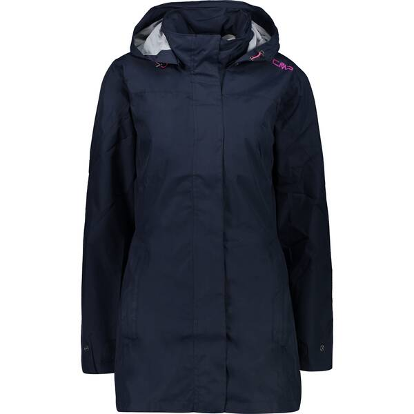 CMP Damen Regenjacke WOMAN RAIN JACKET BUTTON HOOD