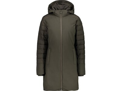 CMP Damen Jacke WOMAN COAT ZIP HOOD Grün