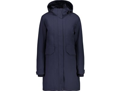CMP Damen Jacke WOMAN COAT ZIP HOOD Blau
