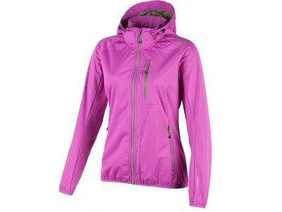 CMP Damen Softshelljacke Zip Hood Clima Protect Lila