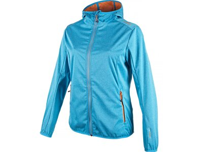 CMP Damen SOFTSHELL JACKET FIX HOOD Blau
