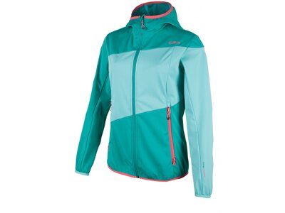 CMP Damen SOFTSHELL JACKET FIX HOOD Rot