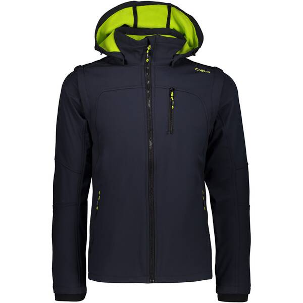 CMP Herren Softshell-Jacke MAN JACKET SNAPS HOOD WITH DETACHBL