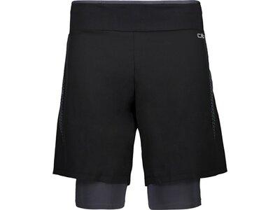 CMP Herren Shorts MAN BERMUDA 2-IN-1 Schwarz