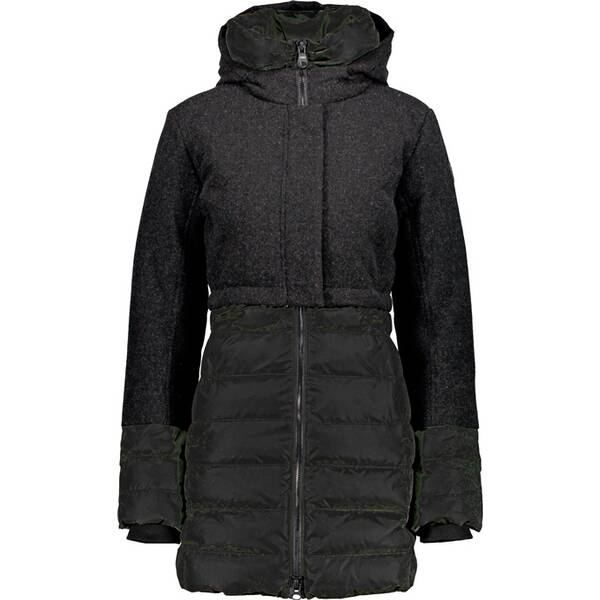 CMP Damen FIX HOOD COAT Schwarz