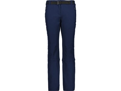 CMP Damen Zip Off-Hose WOMAN STRETCH LONG PANT ZIP OFF Blau
