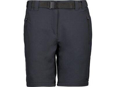 CMP Damen Shorts WOMAN LONG PANT ZIP OFF Schwarz