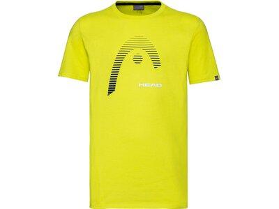 HEAD Kinder T-Shirt CLUB CARL T-Shirt JR Gelb