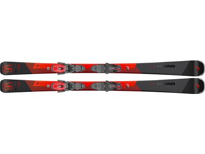 HEAD Herren All-Mountain Ski V-Shape V6 LYT-PR + PR11 GW Rot
