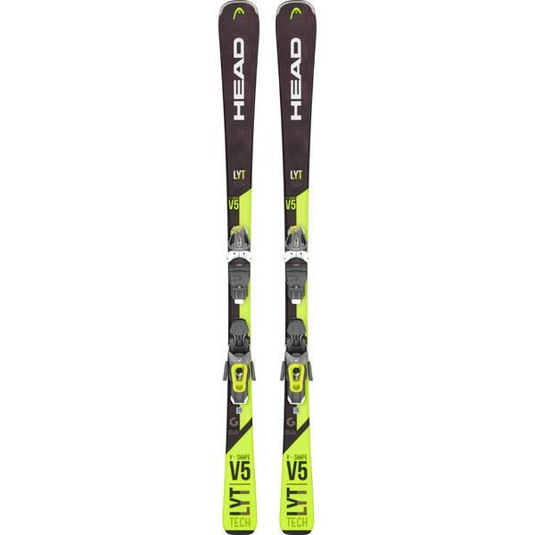 HEAD Herren All-Mountain Ski V-Shape V5 LYT-PR + PR 11 GW