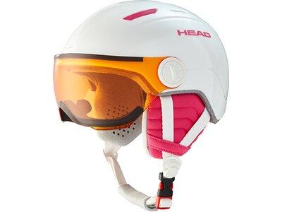 HEAD Kinder Helm MAJA Visor white pink
