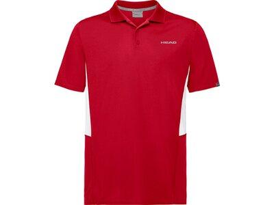 HEAD Herren Poloshirt CLUB Tech Polo Shirt M Rot