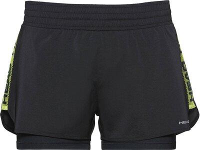 HEAD Damen Shorts ADVANTAGE Shorts W Schwarz