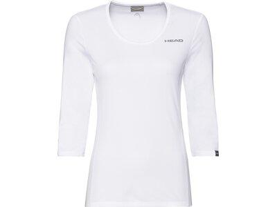 HEAD Damen T-Shirt CLUB Tech 3/4 Shirt W Pink